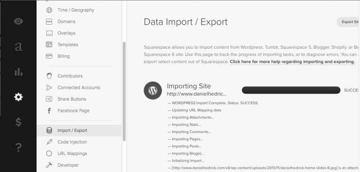 Importing from WordPress is pretty straightforward